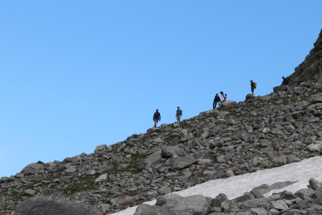 Discesa dalla Alpi Retiche in Valtellina