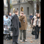 Una scena de La Sconosciuta girata da Tornatore in viale XX settembre a Trieste - immagine tratta dalla app FVG Film Locations