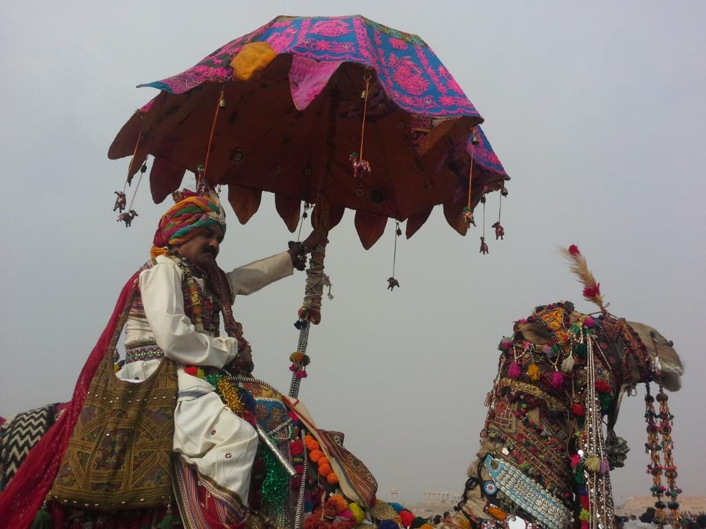 decorazioni tradizionali al festival del Deserto, Jaisalmer, India, Rajasthan, copyright Cristina Favento