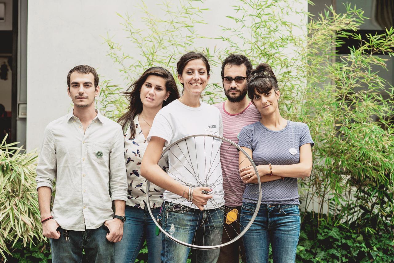 il giovane team che ha ideato e sta realizzando il documentario Voglio una ruota