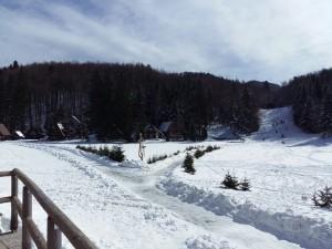 Il villaggio di Sviš?iaki, sul Nevoso (Sneznik) a 1242 metri