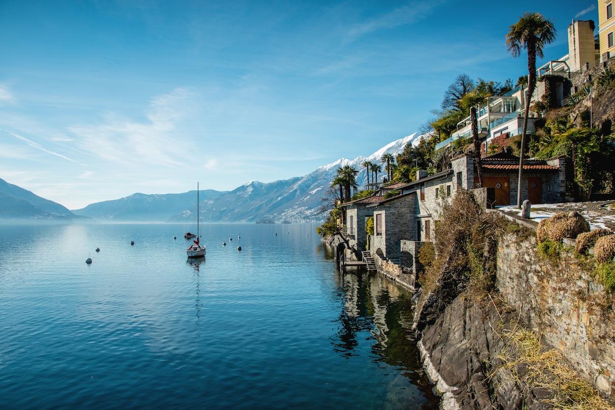 Ascona, Svizzera, Canton Ticino, Lago Maggiore