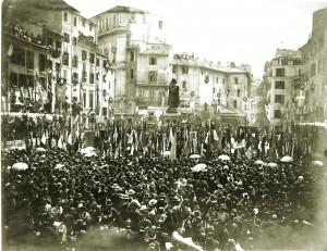 Statuo Bruno Inaugurazione