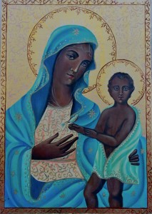 Madonna Odegitria dipinta da don Mimmo Minafra