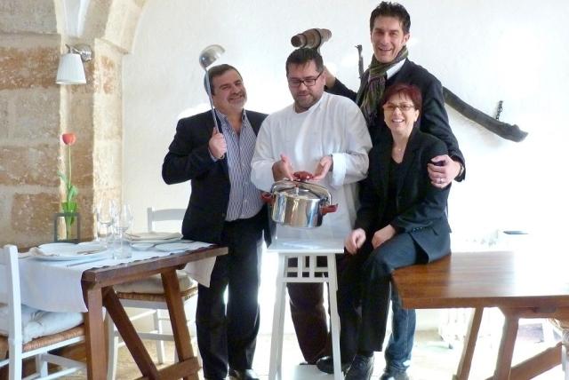 Lo chef Angelo Sabatelli e la moglie Laura Giannuzzi del ristorante Angelo Sabatelli a Monopoli