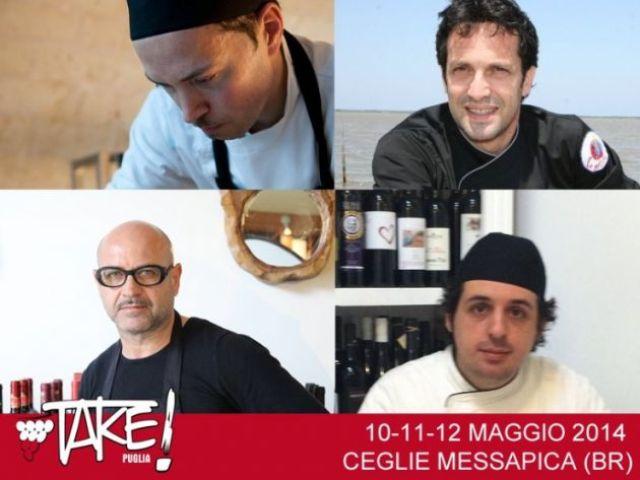 Da sinistra, in alto, in senso orario: Sebastiano Lombardi, Nazario Biscotti, Giacinto Fanelli e Ippazio Turco