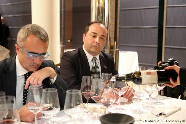 Al centro il direttore di Vinoway Davide Gangi, ideatore del contest Take Puglia (foto di Carlo De Mitri)
