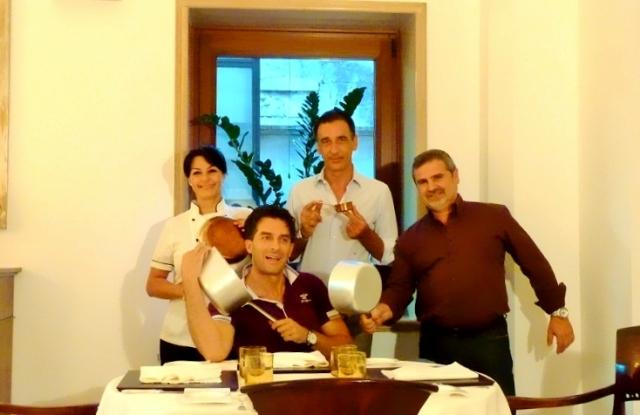 La chef Teresa Galeone e il maitre-sommelier Teodosio Buongiorno del ristorante Già sotto l'arco a Carovigno