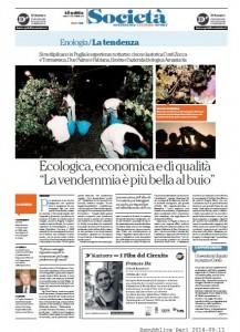 Repubblica Bari, pagina XIII di sabato 13 settembre 2014