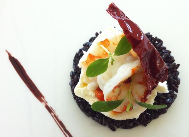 Burrata, peperone crusco e gambero di Mario Musci