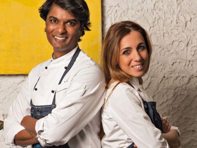 Antonella Ricci e Vinod Sokar, chef patron de Al fornello da Ricci a Ceglie Messapica (Brindisi)