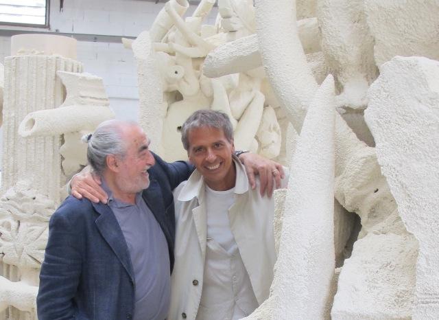 Il maestro Ercole Pignatelli con Claudio Quarta