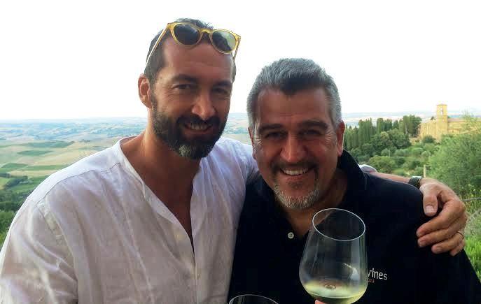 L'ideatore del contest Stefano Remigi e l'enologo Roberto Cipresso