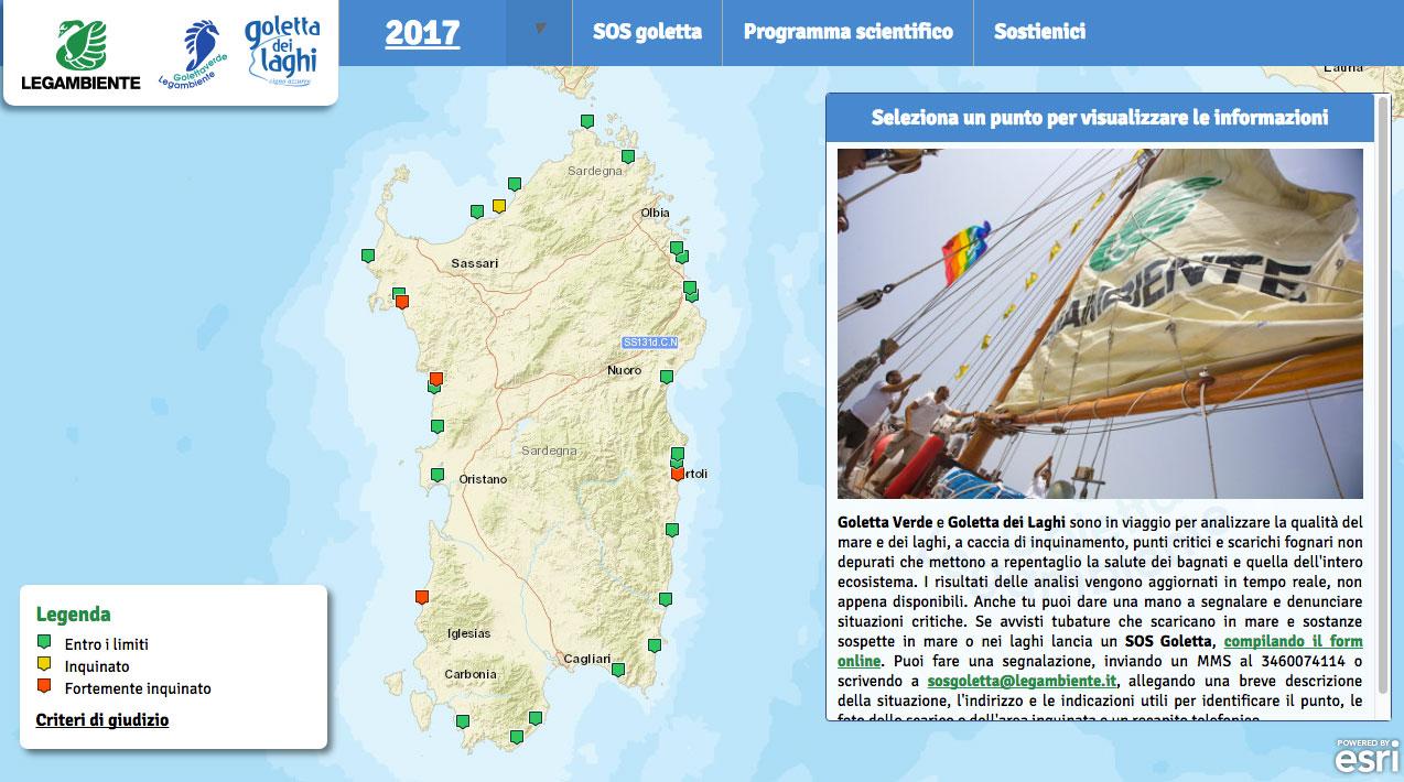Cartina Sardegna 2017.Sardegna Bilancio Positivo E Solite Criticita Alle Foci Di Fiumi E Canali Goletta Verde Diario Di Bordo Blog Finegil