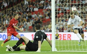 Il gol di Lambert alla Moldavia