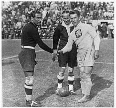 Combi e Planicka prima della finale del '34