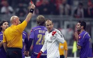 Bayern-Fiorentina: polemiche con l'arbitro Ovrebo