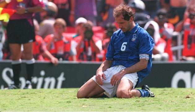 Franco Baresi e il rigore sbagliato nella finale mondiale '94 a Pasadena