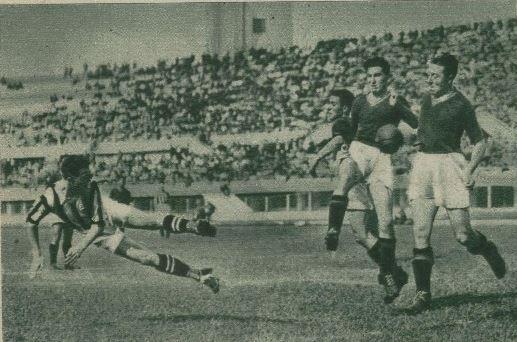 Colpo di testa di Borel contro la Roma (1935/36)