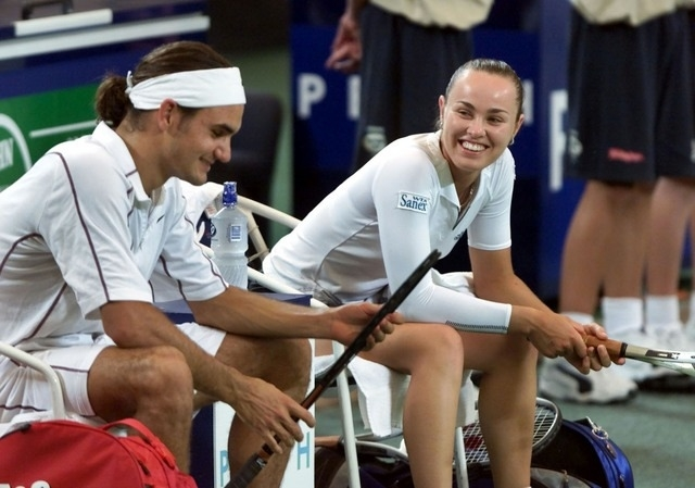 Roger Federer e Martina Hingis, 34 e 35 anni