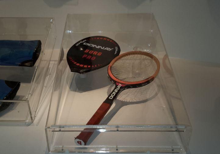 La Donnay di Borg del 1980 al Museo dello sport di Stoccolma