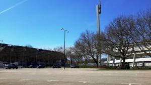 I due stadi di Malmö: a sinistra il nuovo, a destra quello vecchio in cui giocava Ibra