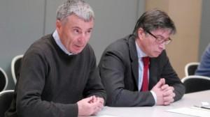 Giovanni Bissoni, a sinistra, con l'ex presidente dell'Emilia-Romagna Vasco Errani