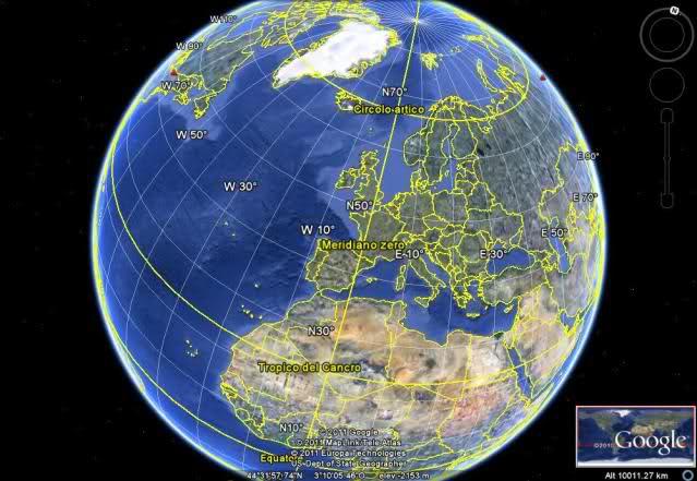 Cartina Europa Con Meridiani E Paralleli.Meridiani E Paralleli Ars Et Labor Blog Bologna Repubblica It