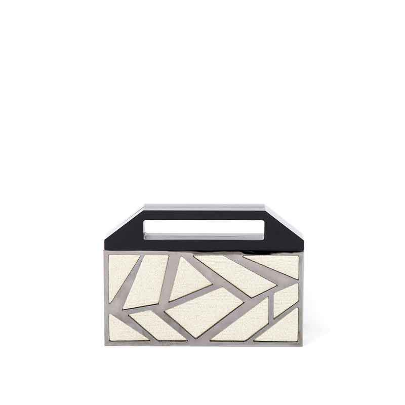Clutch-'2-Faces'-Ruthenium-plated-Brass-and-Golden-Knit--copia