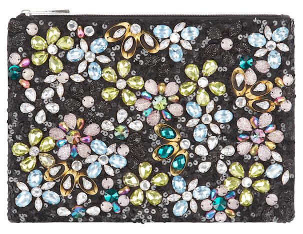 ASOS - Borsa a tracolla piccola decorata con fiori