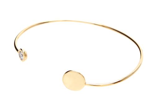 ASOS - Set regalo con orecchini, bracciale rigido e collana girocollo con motivo a cerchio in argento sterling placcati oro - bracciale