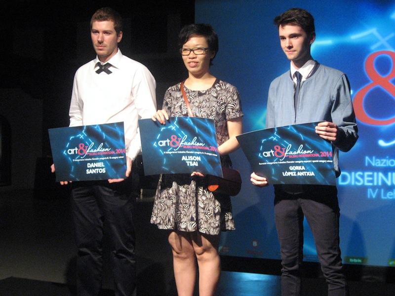 I tre vincitori del concorso
