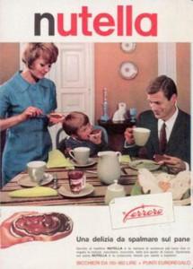 Una vecchia pubblicità della Nutella, che ha festeggiato i 50 anni di produzione