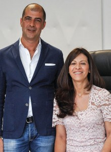 Simone Settimi e la moglie Lucia Menghella, rispettivamente direttore generale e amministratore delegato di Astra make up