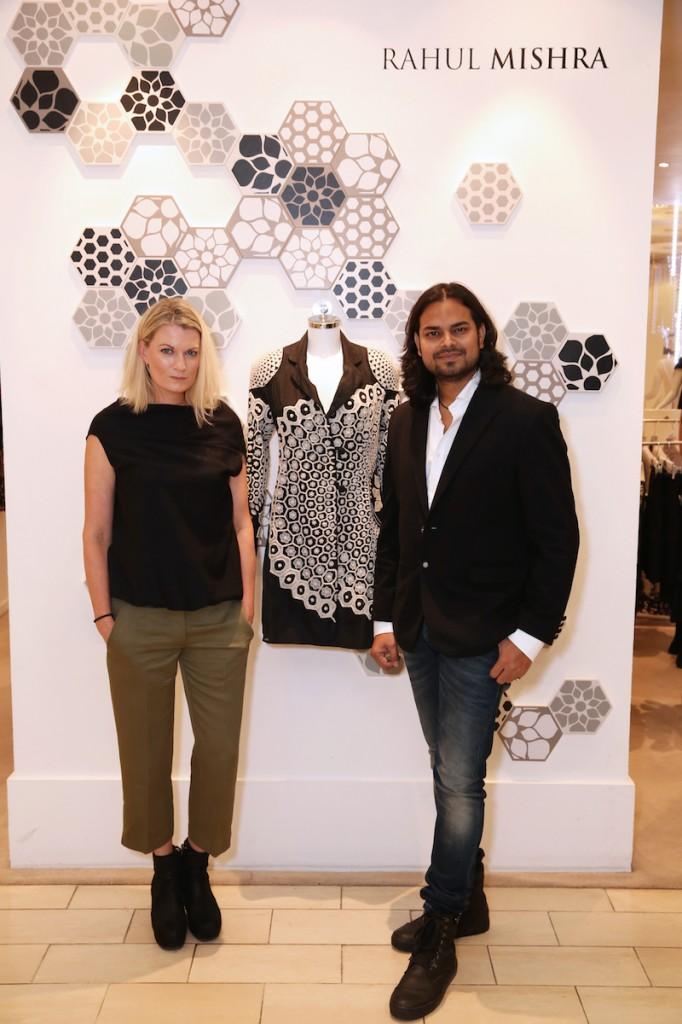 Anita Barr - Group Buying Director at Harvey Nichols & Woolmark Prize Winner Rahul Mishra