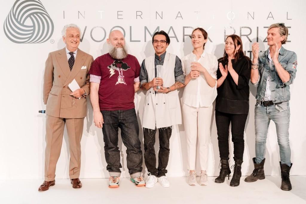 i vincitori con Walter van Beirendonck e Fabrizio Servente