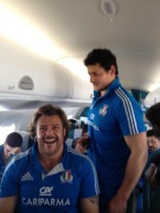 Zanni in aereo con il Barone Lo Cicero