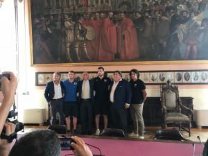 La presentazione del derby a Palazzo Moroni a Padova