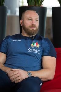 Leo Ghiraldini nell'albergo degli Azzurri