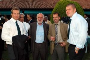 Leonardo Ghiraldini con Berbizier e Rizzo nel 2007