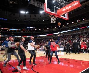 azzurri sul parquet dei Chicago Bulls