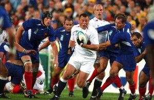 Steve Thompson nella semifinale contro la Francia nel mondiale 2003