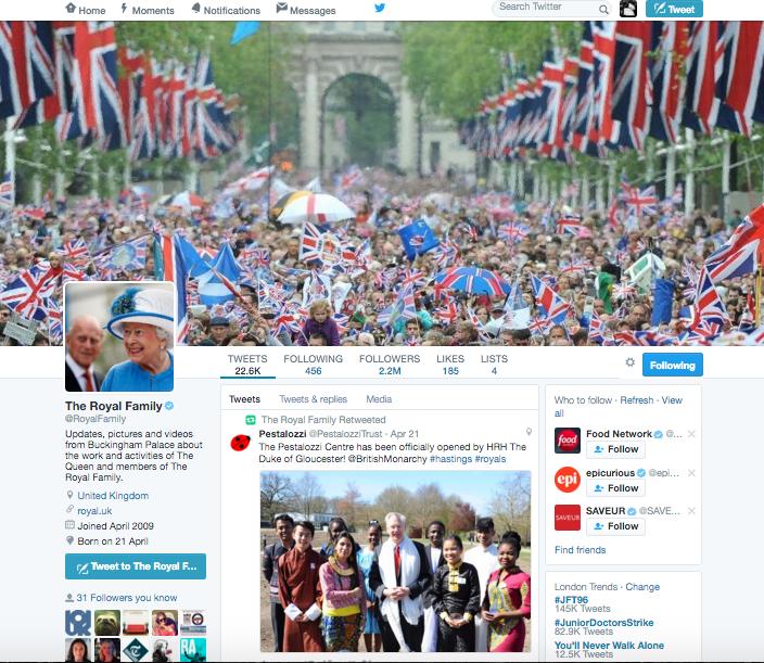 @Royal Family Twitter