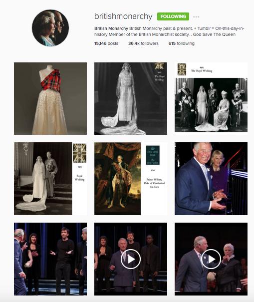 British Monarchy Instagram