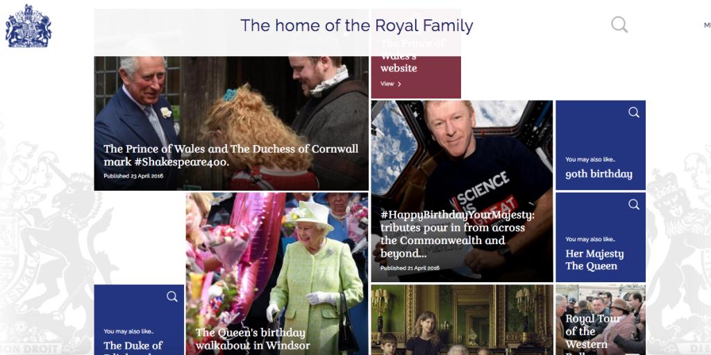 Royal Family UK new website