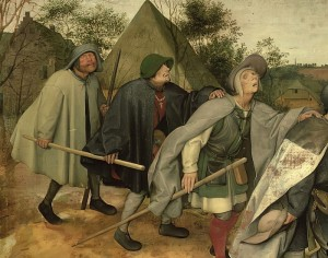 Pieter Bruegel the Elder - Parable of the Blind detail of three blind men 1568 (detail of 29163) - (MeisterDrucke-74032)
