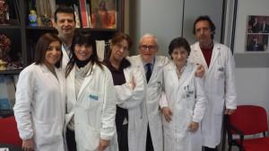 Il gruppo di lavoro dell'ospedale Villa Sofia-Cervello