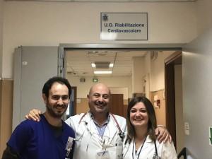 Al centro, il dottore Filippo Sarullo
