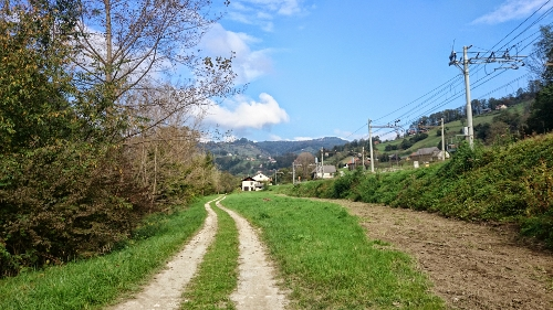 il sentiero lungo la ferrovia