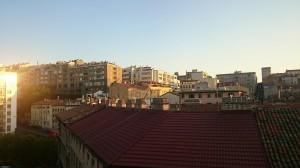 Tramonto sui tetti